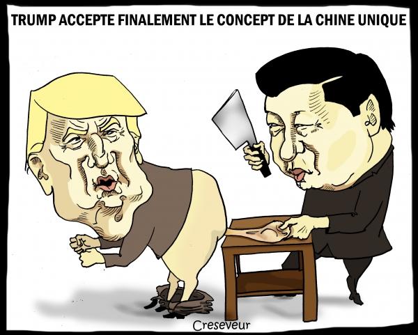 Trump revient au concept de Chine unique.JPG