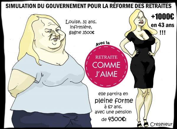 Simulations du gouvernement pour les retraites.JPG