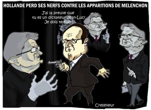 Hollande en pleine parano Mélenchon.JPG