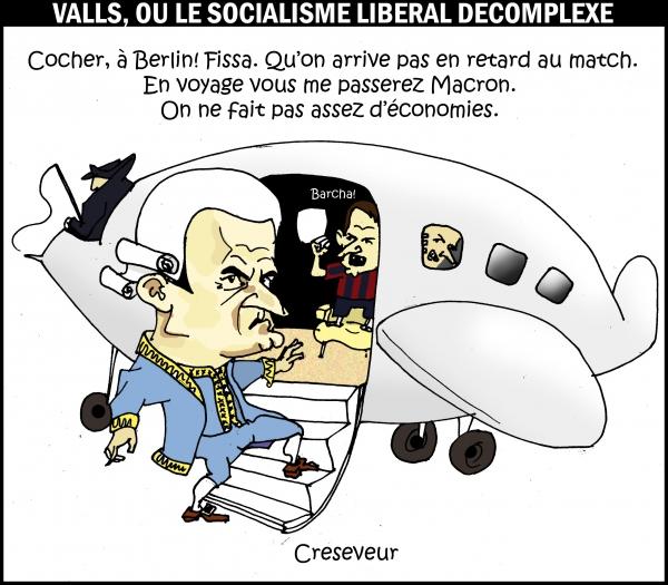 Valls a deux vitesses pour les économies.jpg