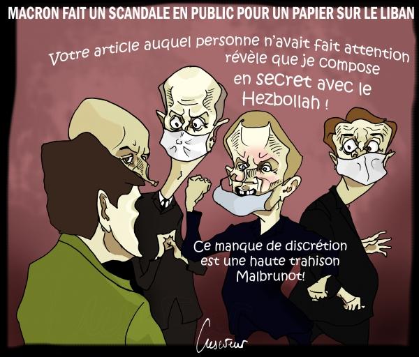 Macron morigène un journaliste du Figaro.JPG