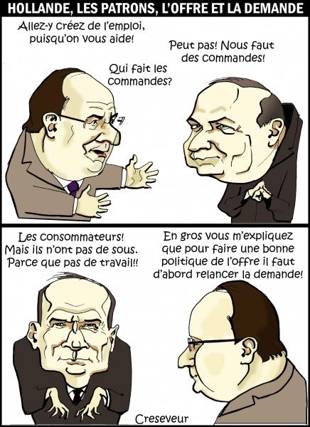 Hollande, les patrons, l'emploi et l'offre.JPG