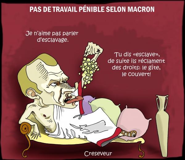 Macron n'aime pas parler de pénibilité.JPG