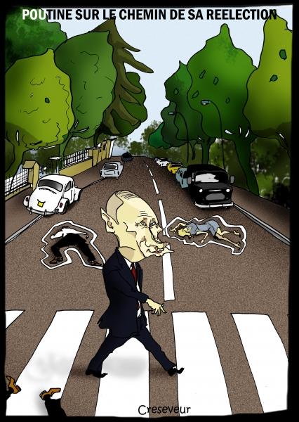 Poutine sur le chemin de sa réélection.JPG