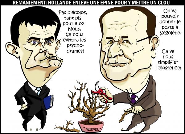 Hollande et le nouveau gouvernement  .JPG