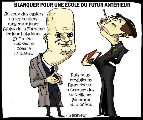 Blanquer et sa réforme moderne de l'école.JPG