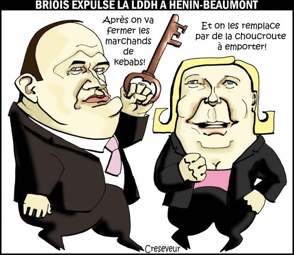 Briois jette la LDDH à hénin-beaumont .jpg