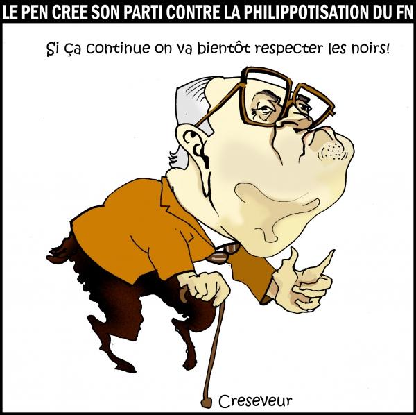 Le Pen s'insurge contre la dédiabolisation du FN.JPG