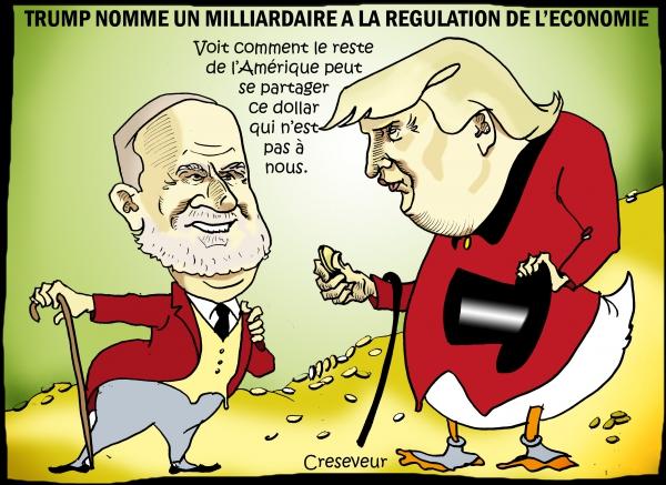 Trump nomme un milliardaire à la régulation de l'économie.JPG