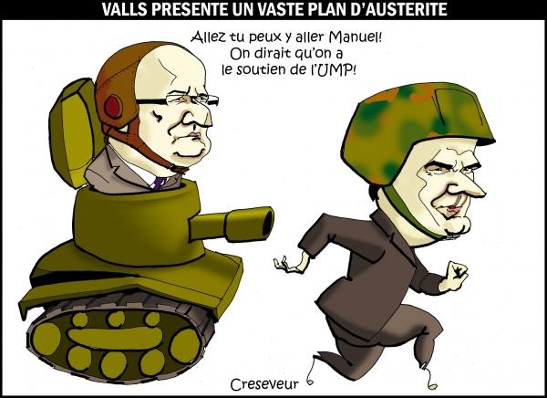 Valls fait un brutal plan d'austérité .JPG