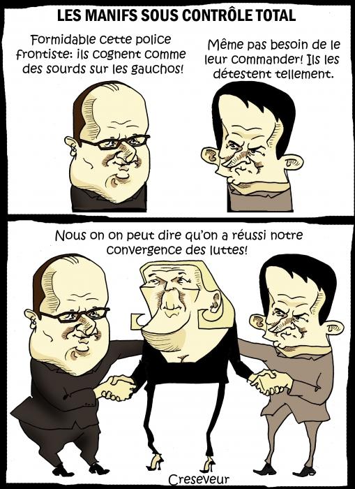 Hollande réussi la convergence des luttes.JPG