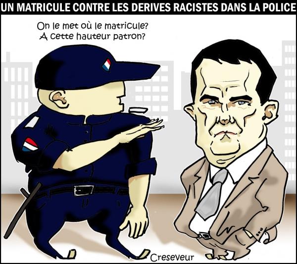 Valls et le matricule des flics .JPG