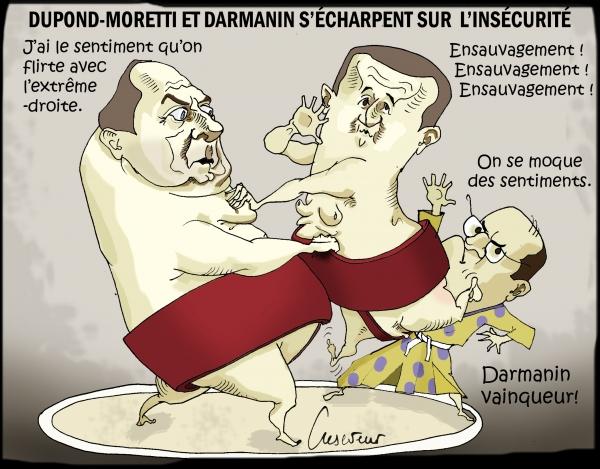 insécurité,darmanin,dupond-moretti,2022,castex,rassemblement national,populisme,dessin de presse,caricature