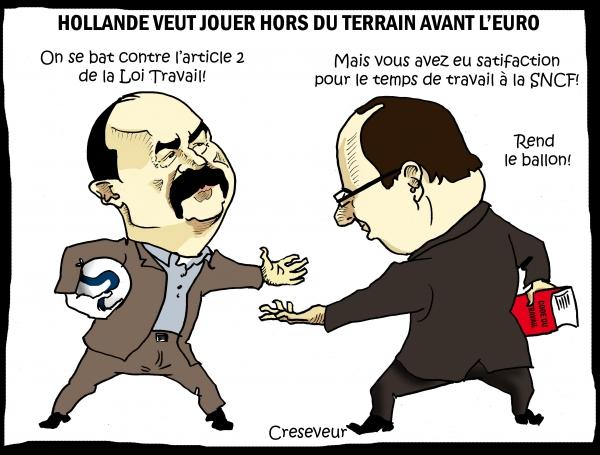 Hollande ne veut pas de blocage de l'euro.jpg