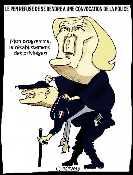 Le Pen refuse de se rendre à une convocation de la police.JPG