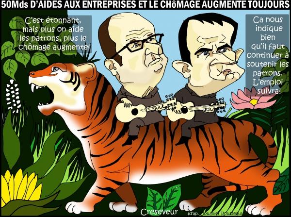 Hollande n'inverse toujours pas la courbe du chômage.jpg