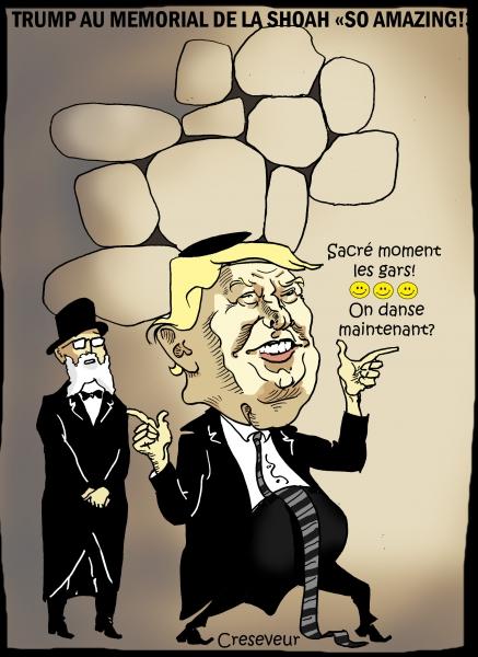 Trump passe un moment inoubliable au mémorail de la shoah.JPG