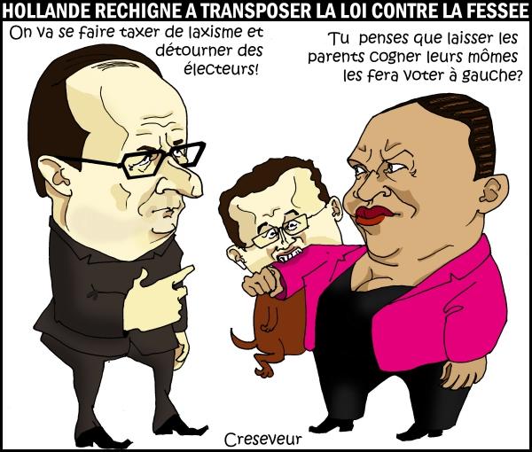 Hollande Taubira et la fessée.JPG