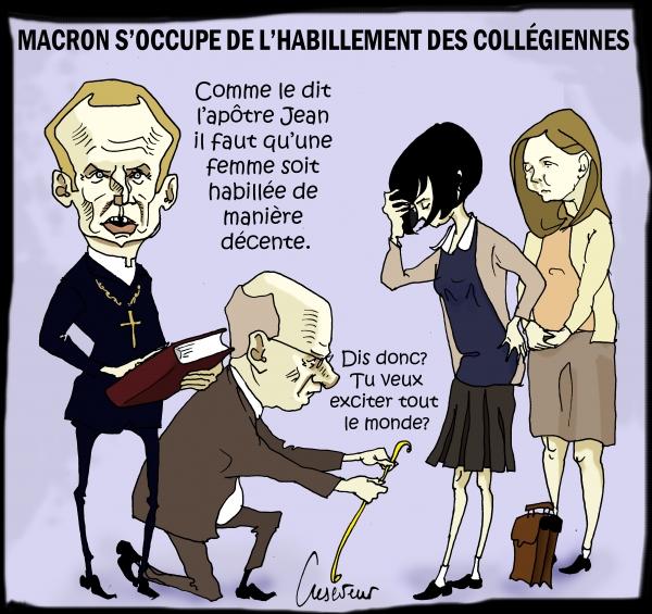 Macron expose son féminisme.JPG