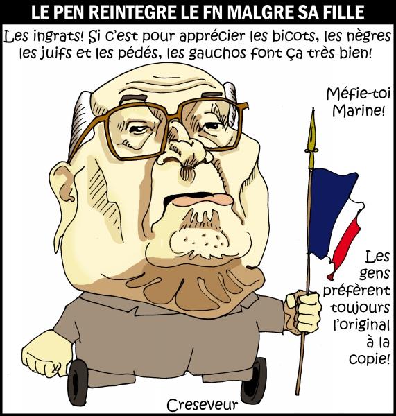 Le Pen réintégré au FN par la justice.JPG