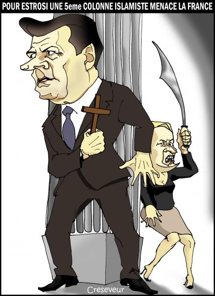 Estrosi menacé par une 5eme colonne islamiste.JPG