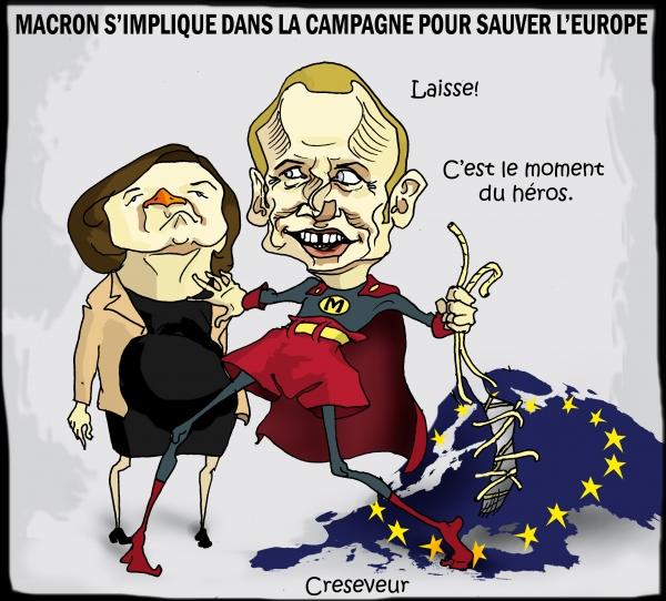 Macron s'implique pour sauver l'Europe.JPG